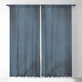 Minimal Abstract Blue Colorfield Painting 05 Blackout Curtain