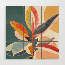 Colorful Branching Out 01 Wood Wall Art
