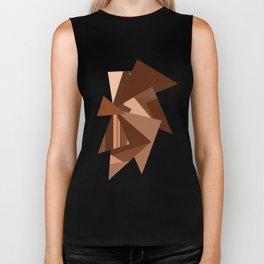 Chocolate Caramels Triangles Biker Tank
