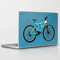 brompton Laptop & iPad Skins featuring Mountain Bike by Wyatt Design