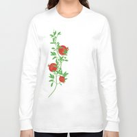 pomegranate Long Sleeve T-shirts featuring Pomegranate by artina