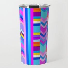 Striped Kilim in Cool Multi Travel Mug