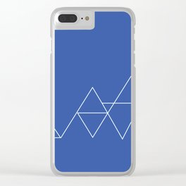 White Triangles Clear iPhone Case