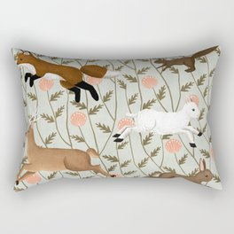 running wild Rectangular Pillow