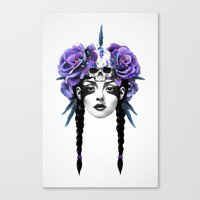 carpe Canvas Prints featuring New Way Warrior by Ruben Ireland