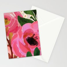 Composition watercolor flowers and rhombuses Stationery Cards