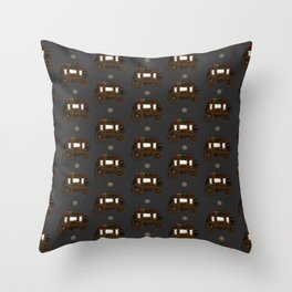 Stagecoach and Lantern Throw Pillow
