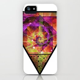 Triangle Spiral Kaleidoscope Mandala iPhone Case
