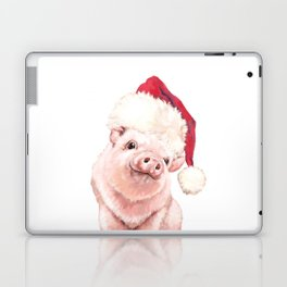 Christmas Pink Pig Laptop & iPad Skin