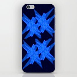 Blue Crystals iPhone Skin