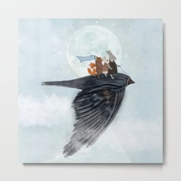 the light bird Metal Print
