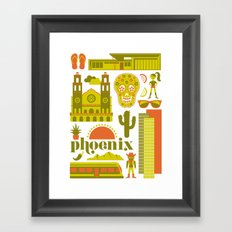 Phoenix in Chartreuse Framed Art Print