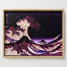 The Great WAVE Eggplant Purple Serving Tray