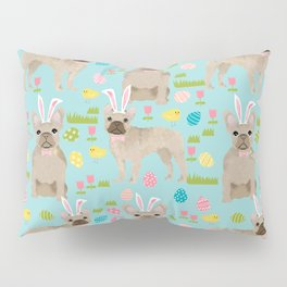 French Bulldog easter bunny spring dog breed pattern frenchies must have Pillow Sham