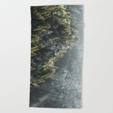 Mountain Lights - Landscape Photography Beach Towel