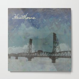 Hawthorne Bridge Metal Print