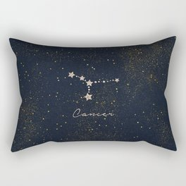 Cancer - Rose Gold Rectangular Pillow