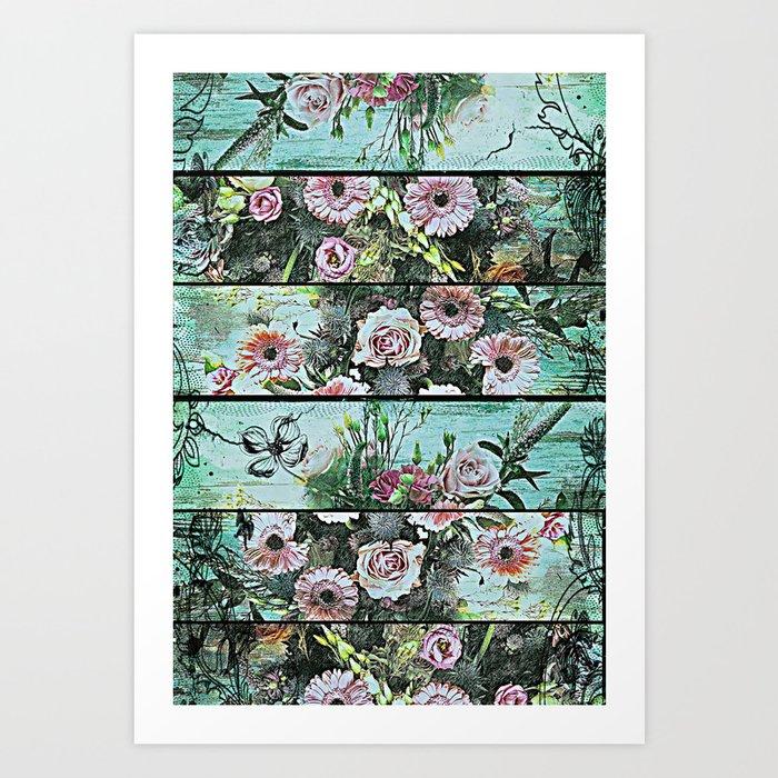 Romantic Rococo wood panel Art Print
