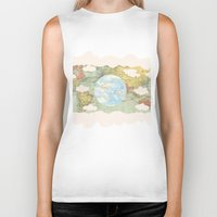 world maps Biker Tanks featuring Off The Maps by Grace M