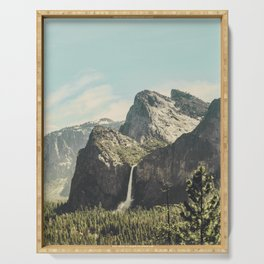Yosemite Valley Waterfall Serving Tray