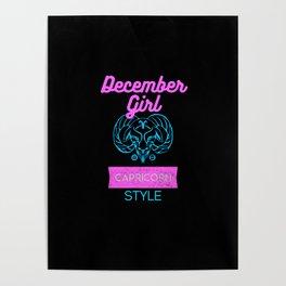 december girl capricorn style Poster