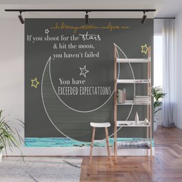 Exceed Expectations Moon Wall Mural