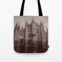 milan Tote Bags featuring Milan Duomo, Milan by Albert Tjandra