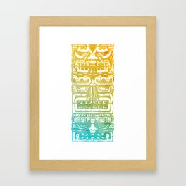 Mayan Totem Framed Art Print