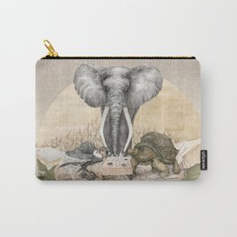 Elephant tea time Carry-All Pouch