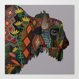 bison heather Canvas Print