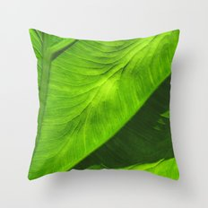 Tropical Green Throw Pillow