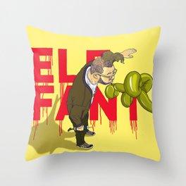 Elefant...or Elephant? Throw Pillow