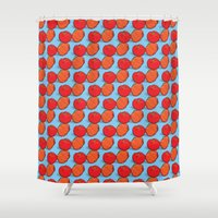 brazil Shower Curtains featuring Brazil fruits by florades