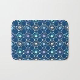 Christmas holiday snowflakes pattern. Bath Mat