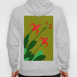 A Group of Big Red Mediterranean Flowers with Buds Hoody