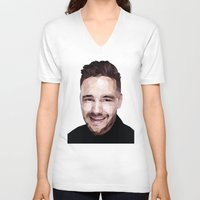 liam payne V-neck T-shirts featuring Liam Payne - One Direction by jrrrdan