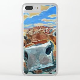 The Boy Down the Street Cow Portrait Clear iPhone Case