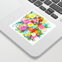 Bright Colorful Floral painting Sticker