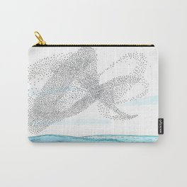 Seaside Murmuration Watercolor Carry-All Pouch