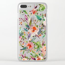 INCOGNITO INTROVERT Tropical Colorful Floral Clear iPhone Case