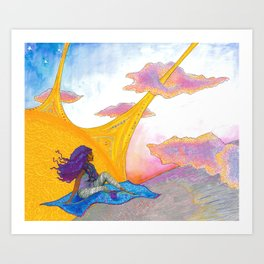 The Sun Begins to Shine Art Print