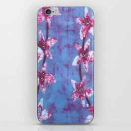 Orchid flowers in Blue and Purple iPhone Skin