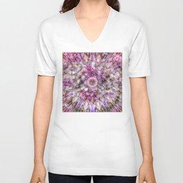 Floral fusion mandala Unisex V-Neck