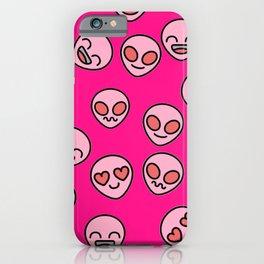 Pink Alien iPhone Case