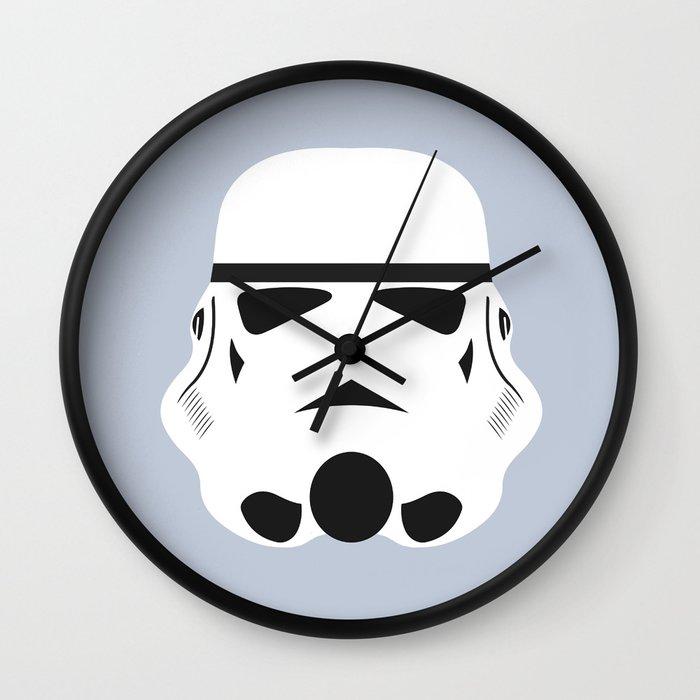 Star Wars Minimalism - Stormtrooper Wall Clock by kables   Society6