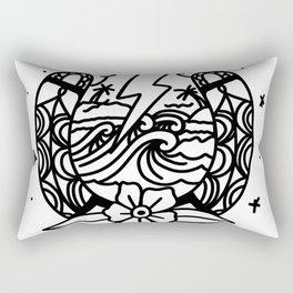 Storm In A Horseshoe Rectangular Pillow
