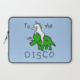 To The Disco (Unicorn Riding Triceratops) Laptop Sleeve