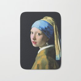 Vermeer - Girl with a Pearl Earring Bath Mat