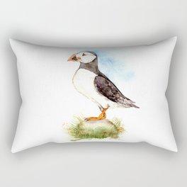 Puffin on a Rock Rectangular Pillow