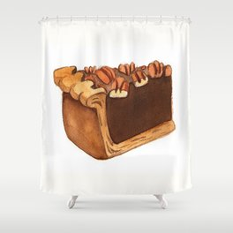 Pecan Pie Slice Shower Curtain